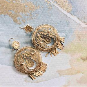 Jewelry - 🆕 Boho Filigree & Flower Earrings
